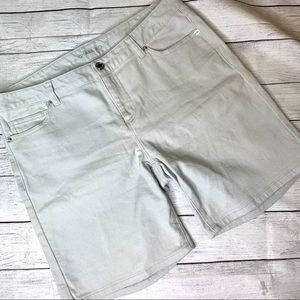 Michael Kors High Rise Denim Shorts Stone Size 8